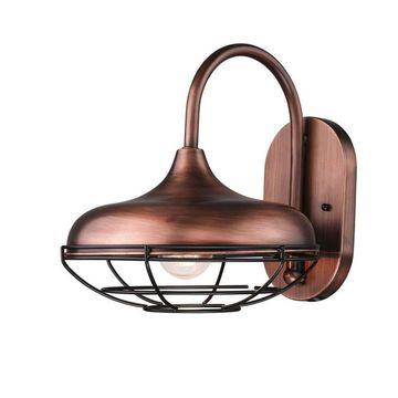 Millennium Lighting R Series 11-in H Natural Copper Medium Base (E-26) Outdoor Wall Light