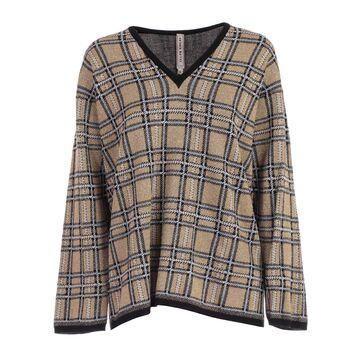 Antonio Marras Sweater L/s V Neck Check Lurex