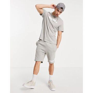 Jack & Jones t-shirt and short set in gray-Grey