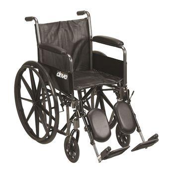 Drive Medical Silver Sport 2 Wheelchair Black