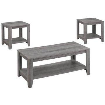 Monarch Table Set 3Pcs Set / Grey
