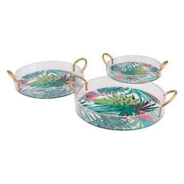 Zuo Modern Tropical Set of 3 Trays, Multicolor