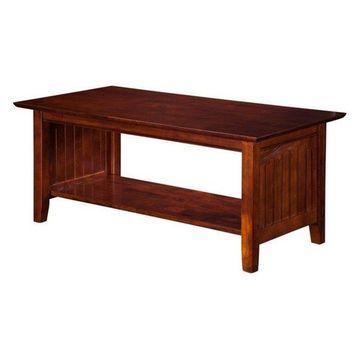 Atlantic Furniture Hampton Coffee Table in Walnut
