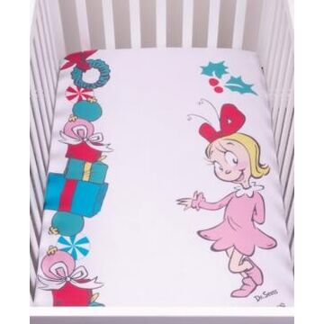 Cindy Lou Who Flannel Photo Op Crib Sheet Bedding