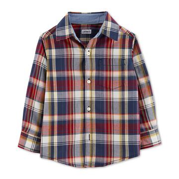 Baby Boys Cotton Plaid Button-Front Shirt