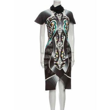 Printed Midi Length Dress Black
