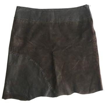 Pinko Brown Leather Skirts
