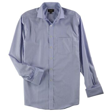 Tasso Elba Mens Stripe Button Up Dress Shirt