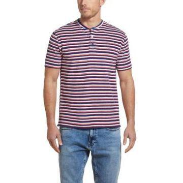 Men's Striped Terry Henley T-shirt