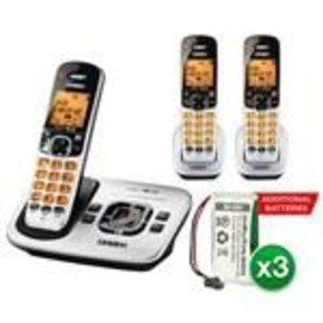 Uniden D1780-3 With additional Battery DECT 6.0 Cordless Phone w/ 2 Ex