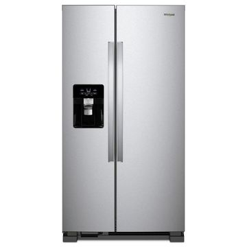 Whirlpool 21.4-cu ft Side-by-Side Refrigerator with Ice Maker (Fingerprint Resistant Stainless Steel)