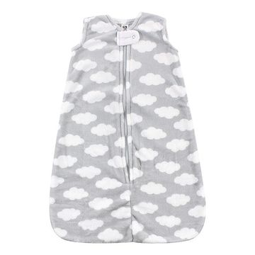 Hudson Baby Swaddle Blankets Gray - Gray Cloud Wearable Blanket