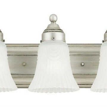 Westinghouse 3 Antique Pewter Clear Wall Sconce