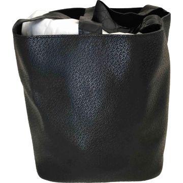 Comme Des Garcons Black Leather Handbags