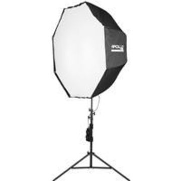 Westcott Solix Apollo Orb 1-Light LED Kit, Includes Solix Light Head, Travel Case, 43& Apollo Orb Octabox, 8' Light Stand, Compact Soft Sided 2-Light Carry Case
