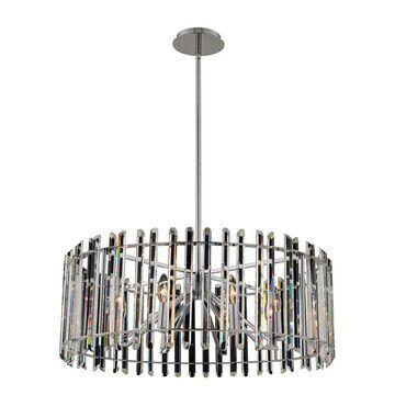 Allegri 036857010FR001 Eight Light Pendant Viano Polished Chrome - One Size