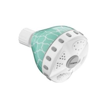 Conair 4-Setting Wall-Mounted Patterned Showerhead Bedding