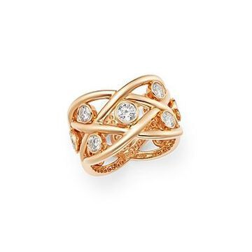 Roberto Coin 18K Rose Gold Baci Diamond Eternity Ring