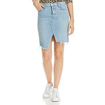 Mother The Tomcat Slide Frayed Denim Skirt