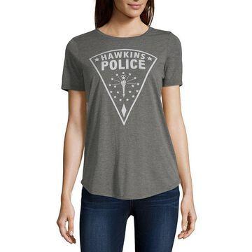 Mighty Fine-Juniors Womens Crew Neck Short Sleeve Graphic T-Shirt