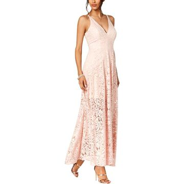 Xscape Womens Lace Embroidered Evening Dress