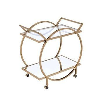 ACME Traverse Serving Cart in Champagne