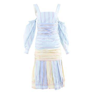 Vivetta Blue Cotton Dresses