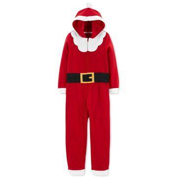 Little & Big Boys Hooded Santa Pajamas