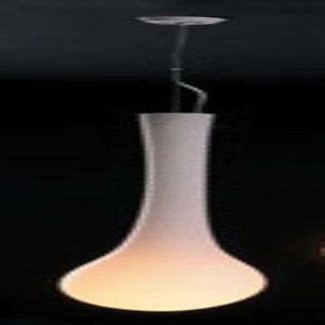 PLC Lighting Satin Nickel Modern/Contemporary Opal Glass Bowl Medium (10-22-in) Pendant Light   86636 OPAL