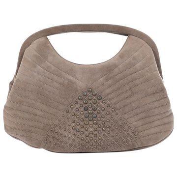Vintage Emanuel Ungaro Beige Suede Clutch Bag