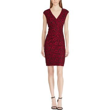 American Living Womens Floral Lace Sheath Dress