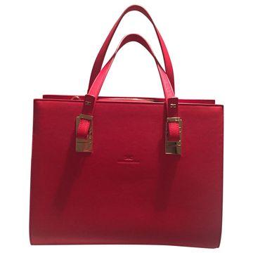 Elisabetta Franchi Red Leather Handbags