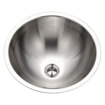 Houzer CRTO-1620-1 Opus Conical Stainless Steel Lavatory Sink w/ Overf