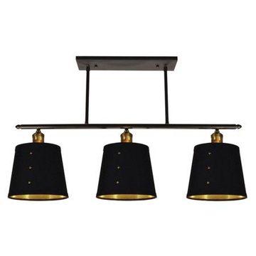 Dainolite 3 Light Horizontal Pendant - Vintage Steel