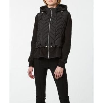 Bernardo Recycled Quilted French Terry Coat