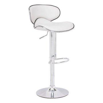 Zuo Modern Fly Bar Chair, White, 300131