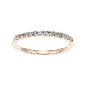 Boston Bay Diamonds 14k Gold Aquamarine Stack Ring
