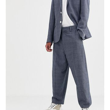 Noak suit pants in blue texture fabric