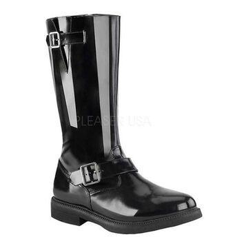 Funtasma Men's Officer 201 Knee High Boot Black Nappa Polyurethane