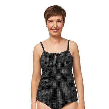 Women's Amoena Romantic Downtown C-Cup Tankini Swim Top, Size: 16C, Black