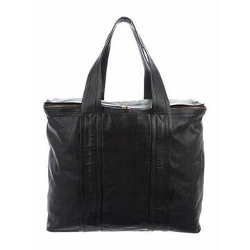 Leather Weekender Black
