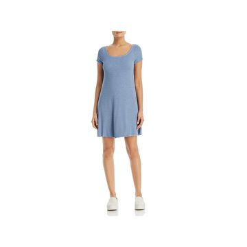 Three Dots Womens T-Shirt Dress Short Sleeves Ribbed - XL