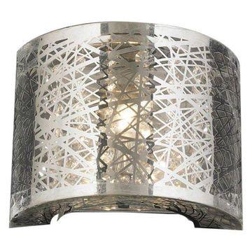 Worldwide Lighting W23143C8 1-Light ADA LED Flush Mount Crystal Wall Sconce