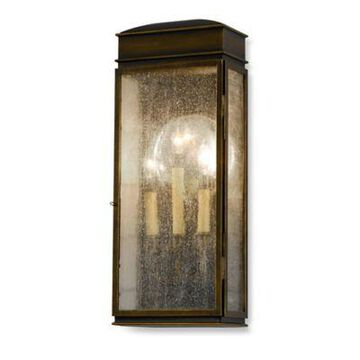 """Feiss Whitaker Outdoor 22.5"""" Wall Lantern In Astral Bronze"""