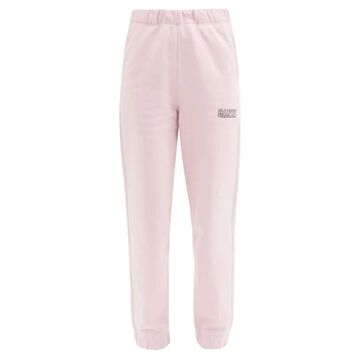 Ganni - Software Recycled Cotton-blend Track Pants - Womens - Pink
