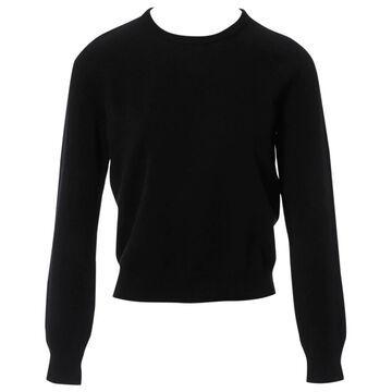 Saint Laurent Black Cotton Knitwear
