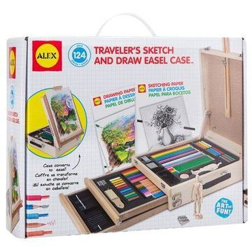 ALEX Toys Artist Studio Traveler's Sketch and Draw Easel Case