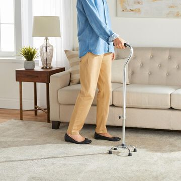 Heavy-Duty Quad Cane by Drive Medical in Chrome