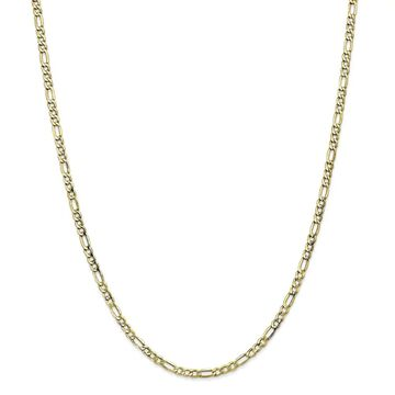 10K Yellow Gold 3.5mm Semi Solid 20-inch Figaro Chain by Versil