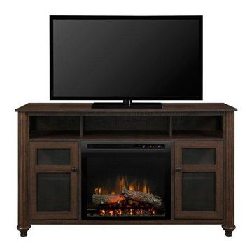 Dimplex Xavier Media Console Electric Fireplace With Logs Television Stand